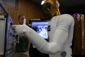 INTERNATIONAL SPACE STATION — About 264 miles above the Earth, Robonaut 2, the dexterous humanoid robot developed by General Motors and the NASA Johnson Space Center, has finally begun its...